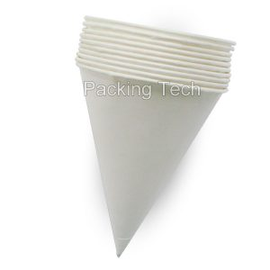 no printed white paper cone sleeve