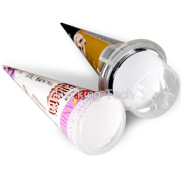 paper cone sleeve plastic lid