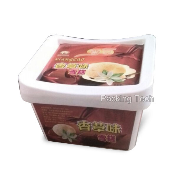 500ml square ice cream tub