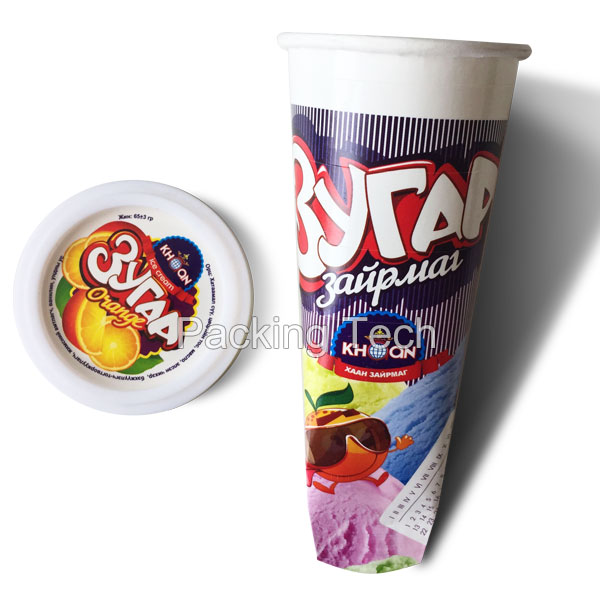 Different Size Paper Ice Cream Tube With Plastic Lid For Ice Pops