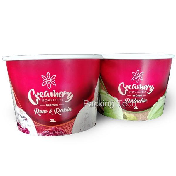 2L paper cup ice cream, ice cream cup, ice cream tub